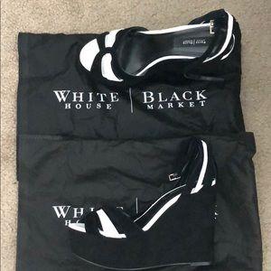 WHBM platform wedge black and white 💓